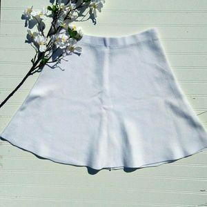 Banana Republic white thick knit circle skirt sz L